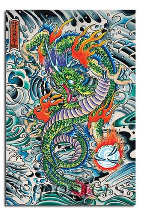 0092 don ed hardy dragon tatoo poster available from
