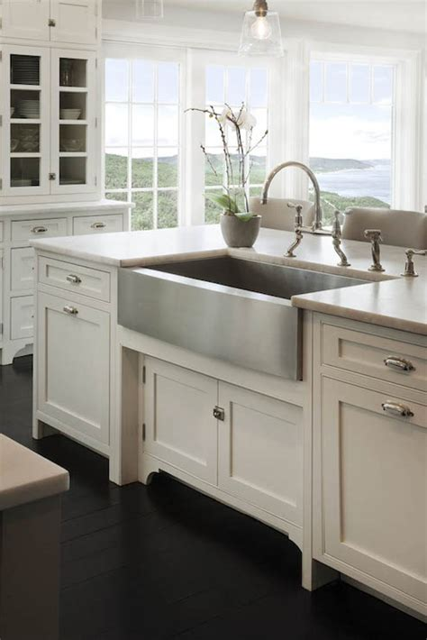 glass cabinet doors kitchen farmhouse with apron sink crown point cabinetry kitchens ocean view kitchen