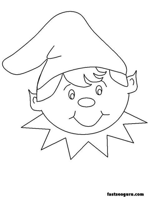 funny elf coloring pages 32 best elf on the shelf images on pinterest coloring