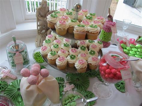 Uptown Soir 233 E Pink And Green Sweets Table Inspiration Pink And Green Buffet