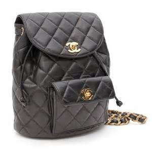 chanel black quilted leather backpack at 1stdibs