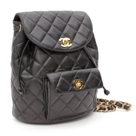 Quilted Back Pack by Chanel Black Quilted Leather Backpack At 1stdibs
