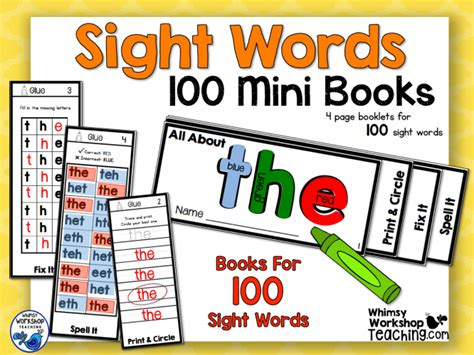 a hundred small lessons books sight words whimsy workshop teaching