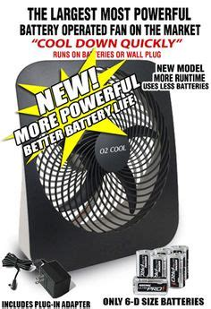 fans that run on batteries this o2 cool battery operated fan runs on batteries or the