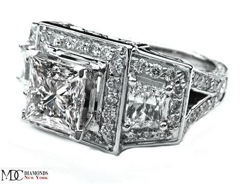 engagement ring large princess cut engagement