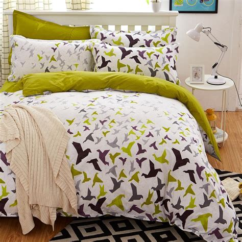 new bed set 2016 new origami cranes bedding set polyester bed sheet