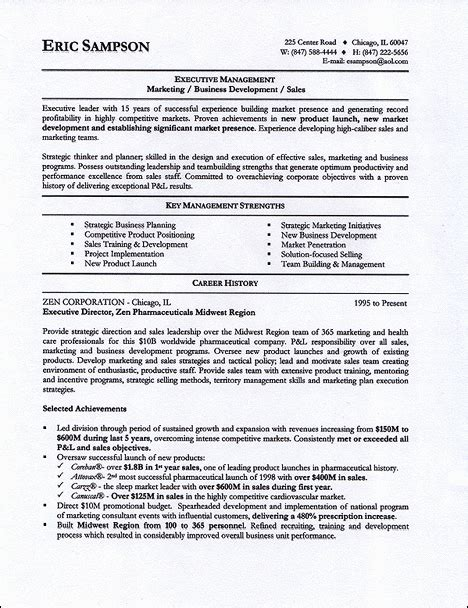 resume sles provided by leading professional resume writer