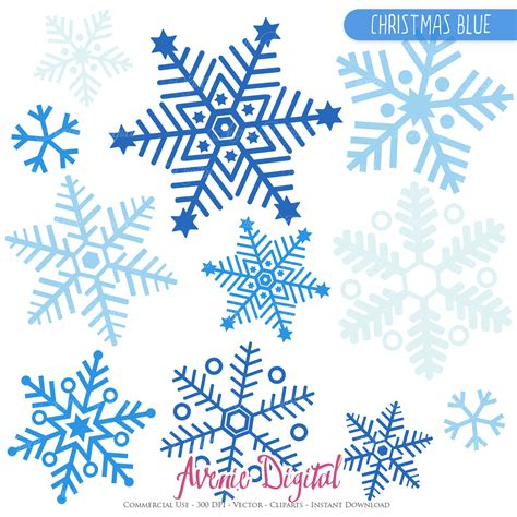 printable blue snowflakes blue snowflake clipart and vectros by aveniedigital