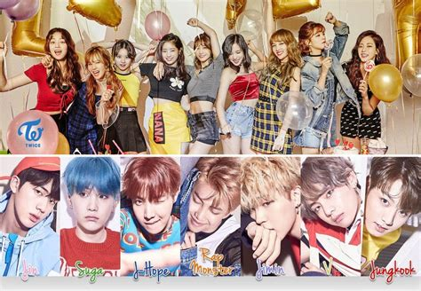 twice and bts bts and twice most popular kpop groups in overseas hab