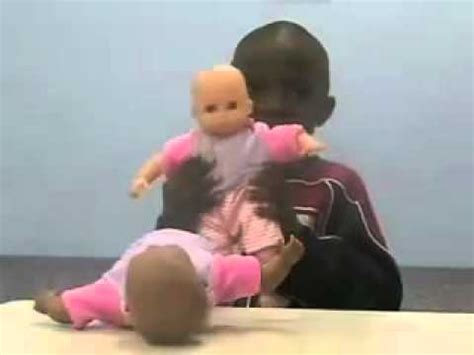 black doll for white child black doll white doll brain washing skin children