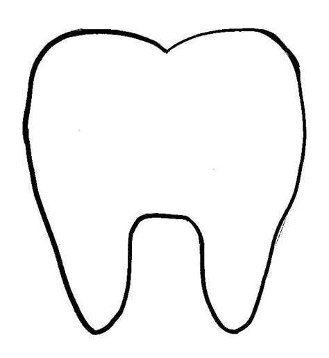 tooth templates free tooth pattern printables