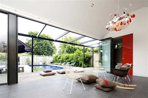 south yarra pool house design offering open architectural