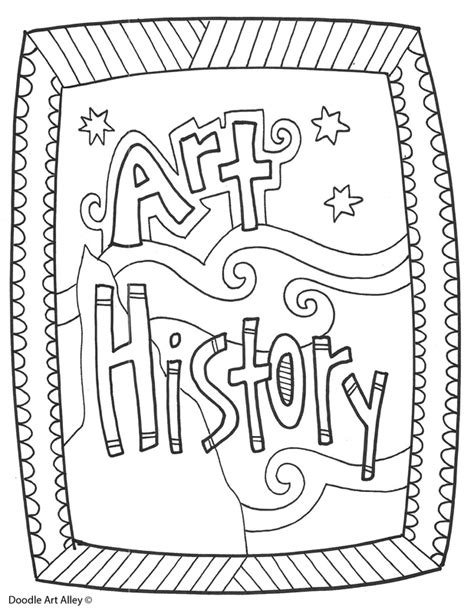 coloring pages for school subjects subject cover pages coloring pages classroom doodles