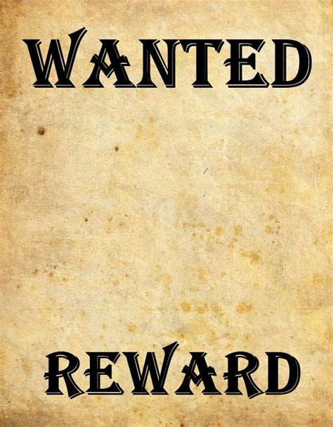 9 Wanted Poster Templates Word Excel Pdf Formats Free Wanted Poster Template