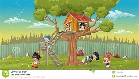 backyard cartoon cartoon children stock vector image of mascot beginner