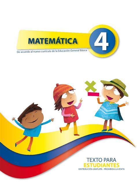 libro de cuarto ao basica ecuador matematica 4