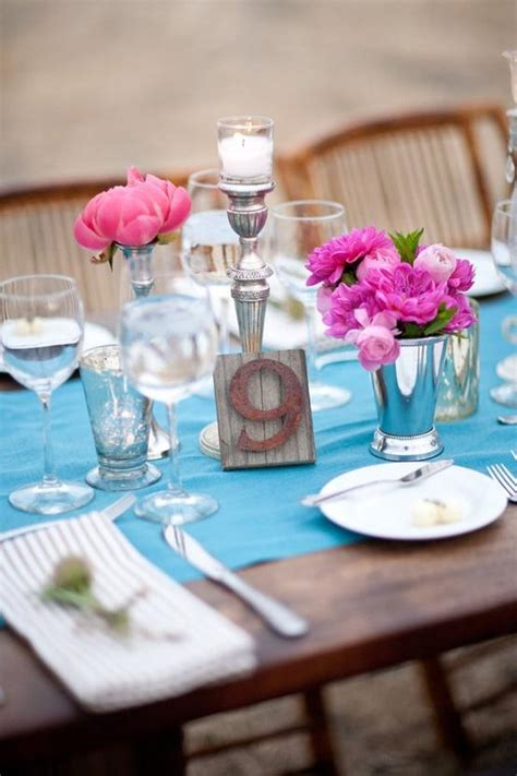 Ideas For Turquoise Table Ls Design Wedding Centerpieces Turquoise Studio Design Gallery Best Design