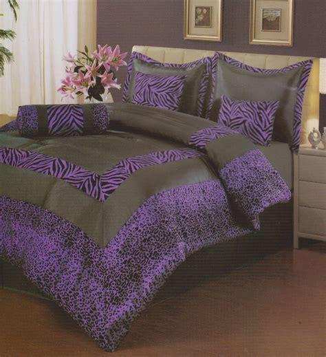 Purple And Black Bedding King by 7 Pcs King Size Comforter Set Purple Black Quot Zebra