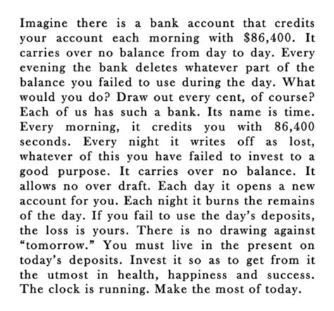 is day a bank imagine there is a bank that credits your account each