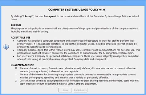 data usage policy template rjl software software utility message manager deluxe