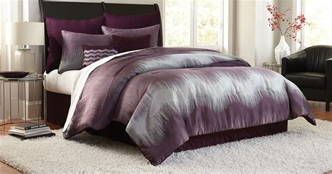 purple chevron bedding cannon 8 piece jacquard chevron comforter set purple
