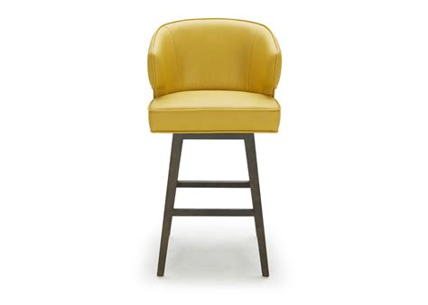 bar stool in bright yellow leather not just brown