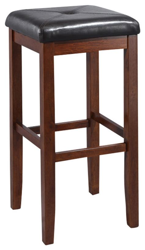 upholstered kitchen bar stools upholstered square seat bar stool in vintage mahogany