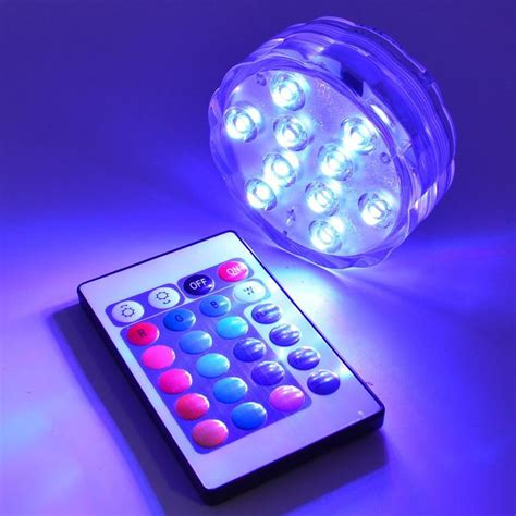 battery operated swimming pool lights 10pcs 10led rgb submersible led light battery
