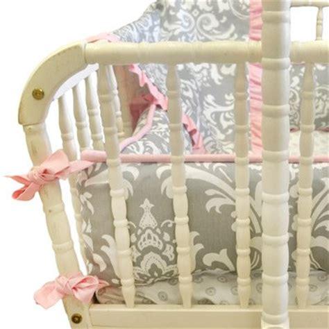 Stella Gray Crib Bedding New Arrivals 3pc Stella Gray Damask Floral Crib Bedding Bc Stellagray