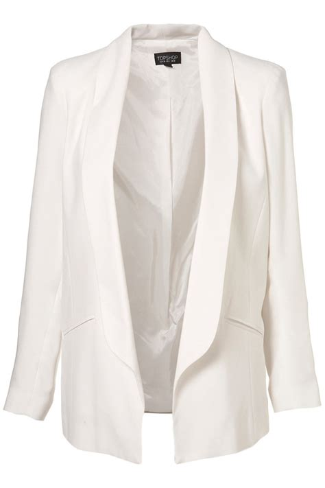 white draped blazer drape longline blazer 7 draped jackets to fall for