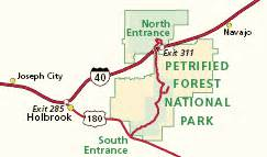 petrified forest arizona map petrified forest national park arizona