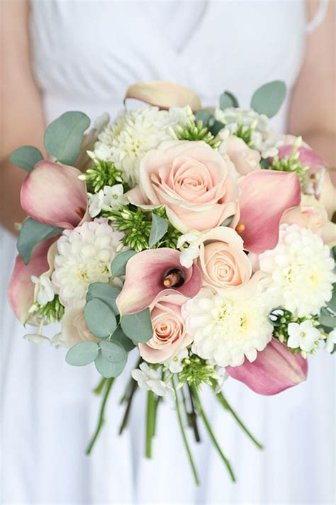 Pink Wedding Flower Bouquets by Pastel Pink Wedding Flowers Chwv
