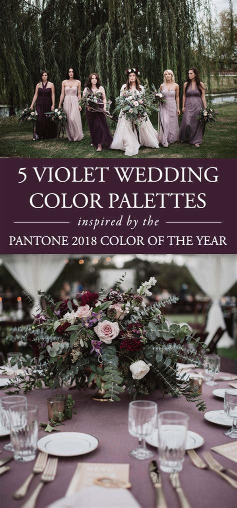 violet wedding color palettes inspired   pantone