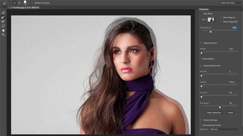 photoshop tutorial masking hair cs5 how to mask hair using photoshop s new quot select and mask