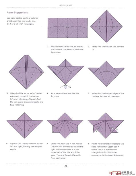 Paper Folding Guide - origami orchid flower folding origami