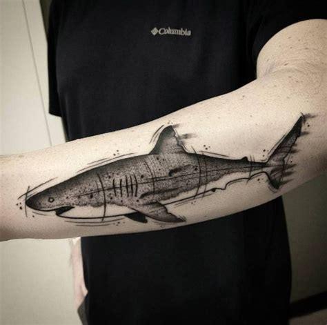 shark tattoo sleeve 50 fantastic shark tattoos that are better than shark week