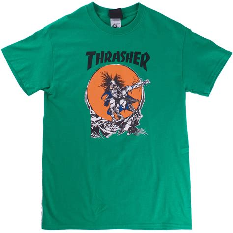 design t shirt rollerblade thrasher skate outlaw t shirt kelly green