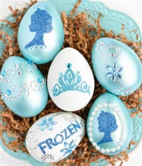 como decorar huevos de frozen como hacer huevos de pascua de frozen todo manualidades