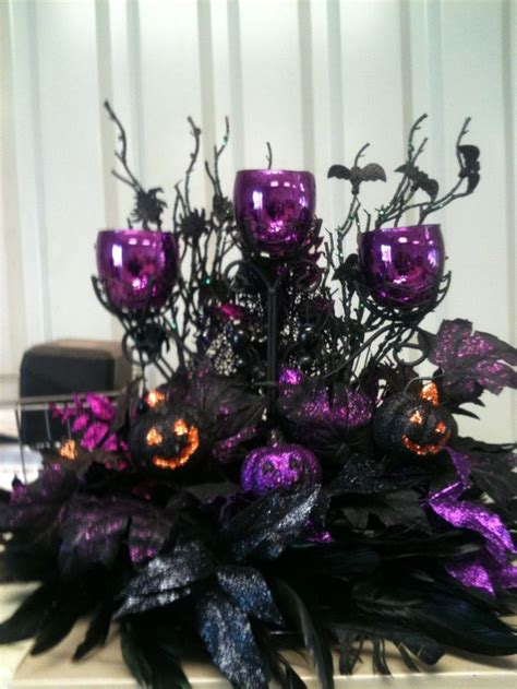 Black And Purple Table Decorations by Best 25 Wedding Centerpieces Ideas On