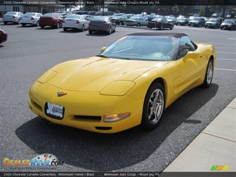 2000 Chevrolet Corvette Convertible by 2000 Chevrolet Corvette Convertible Millennium Yellow