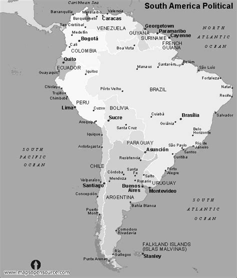 america map black and white free south america political map black and white black