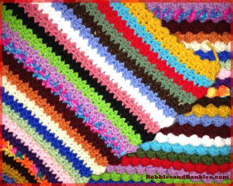 pattern for scrap yarn afghan my never ending scrap yarn bobble blanket bobbles baubles