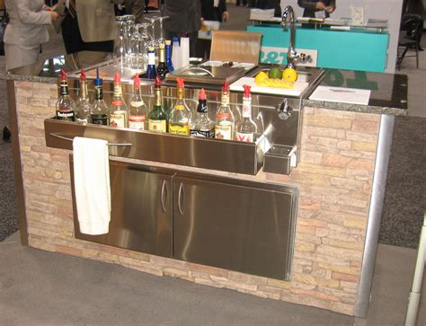 Stainless Steel Kitchens And Bars by The Bar Area On 45 Photos On Copper Bar Bar
