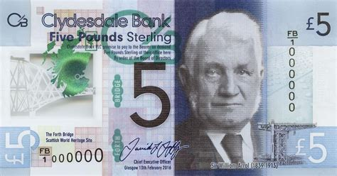 bank notes out of circulation clydesdale bank s polymer 163 5 note enters circulation