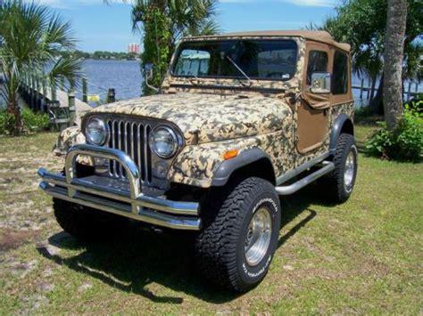 Jeep Custom Paint Purchase Used 1984 Jeep Cj 7 Wrangler Custom Painted