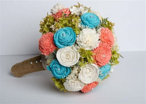 Handmade Flower Bouquets - handmade wedding bouquet sola flower bridal bouquet