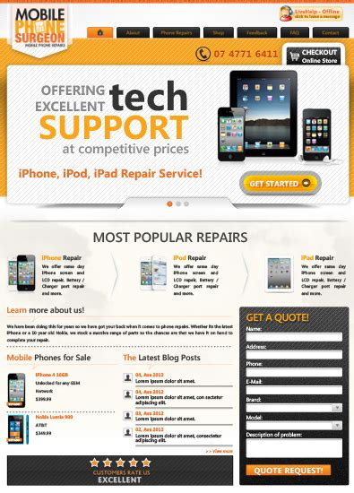 free mobile site templates free mobile phone repair service template free templates