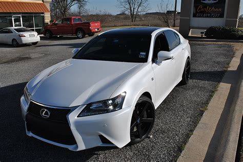 lexus wrapped lexus gloss black roof wrap car wrap city