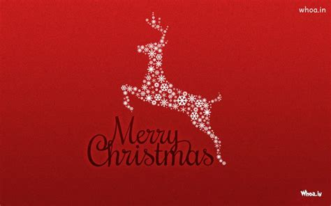 merry christmas deer white stars red xmas  red background hd image