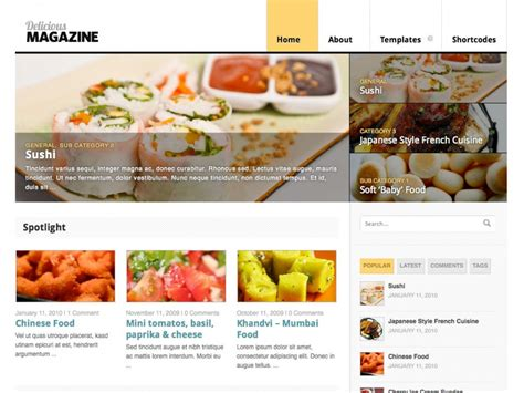 magazine layout now this is delicious fantabulous delicious magazine woothemes